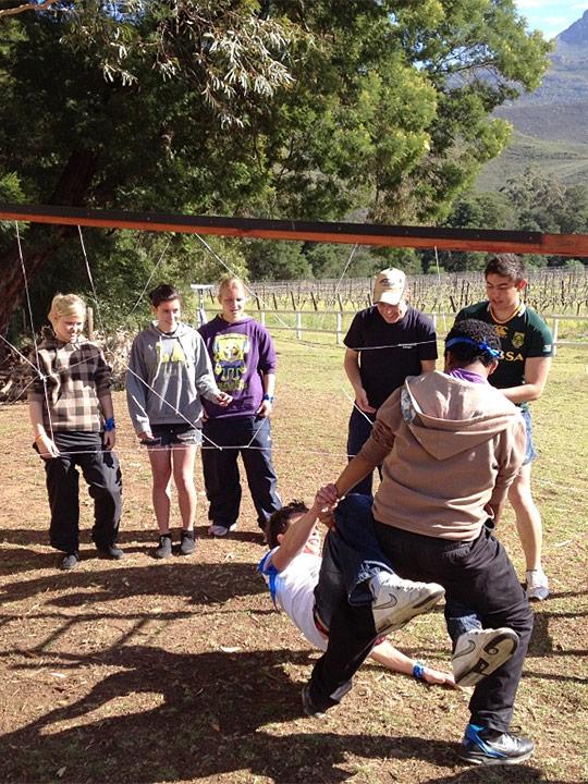 Team building at Oaksrest Vineyards
