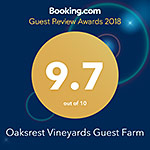 Oaksrest Booking.com rating badge